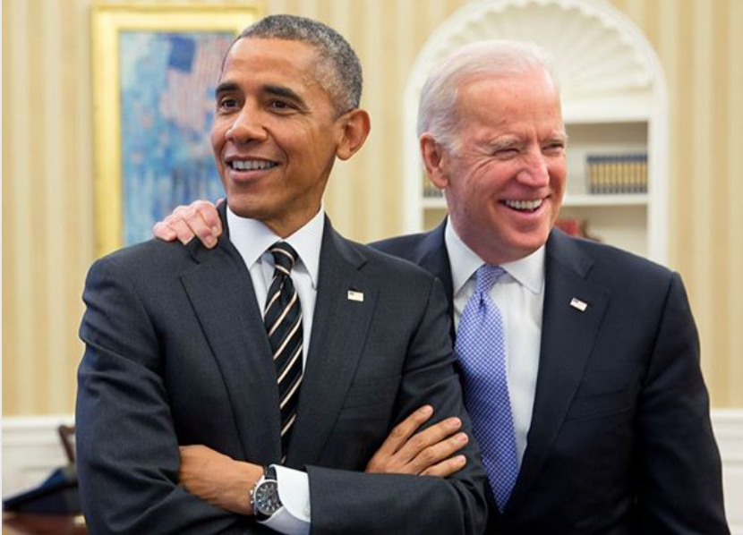 Body of Biden ad. The ad shows a photograph of Biden with President Obama. Biden is smiling and has his arm around Obama's shoulder.